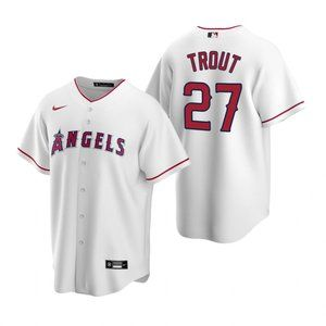 Youth Los Angeles Angels #27 Mike Trout Jersey